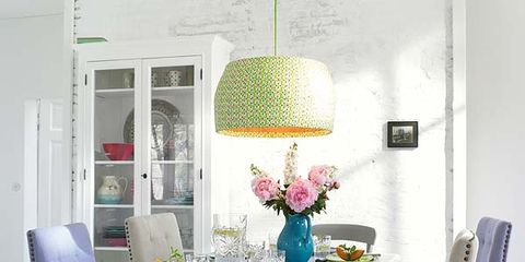 Room, Interior design, Green, Floor, Table, Furniture, Flooring, Dining room, Chair, Interior design,