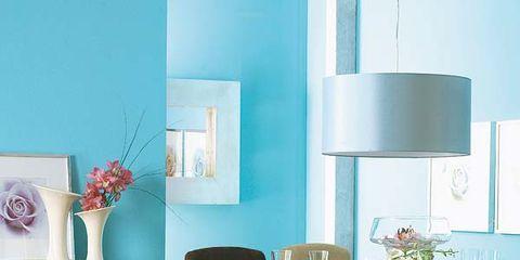 Room, Wood, Interior design, Furniture, Floor, Table, Flooring, Teal, Turquoise, Interior design,