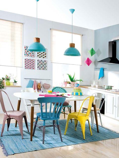 Room, Interior design, Furniture, Table, Turquoise, Teal, Aqua, Chair, Home, Interior design,