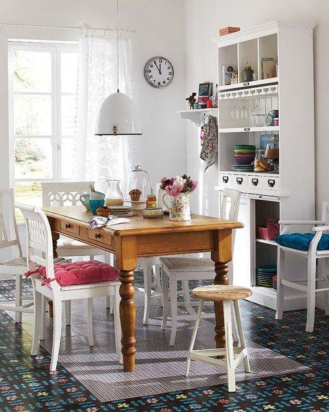 Room, Interior design, Furniture, Table, Floor, Home, House, Flooring, Interior design, Dining room,