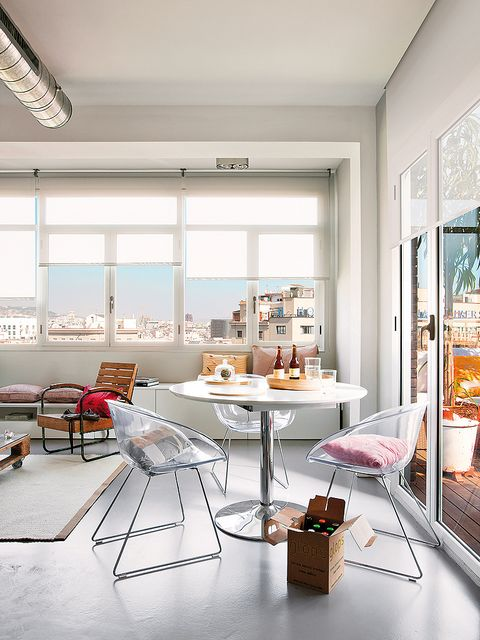 Interior design, Room, Floor, Furniture, Ceiling, Table, Interior design, Wall, Glass, Home,