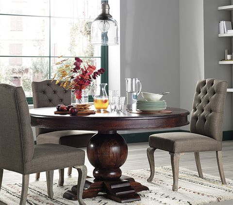 Furniture, Room, Dining room, Table, Kitchen & dining room table, Interior design, Coffee table, Chair, Material property, Rectangle,
