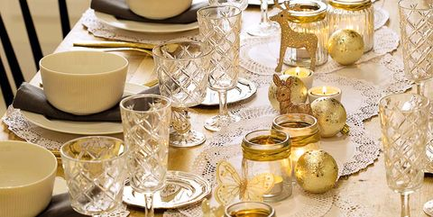 Yellow, Stemware, Gold, Centrepiece, Tablecloth, Tableware, Champagne stemware, Rehearsal dinner, Table, Porcelain,
