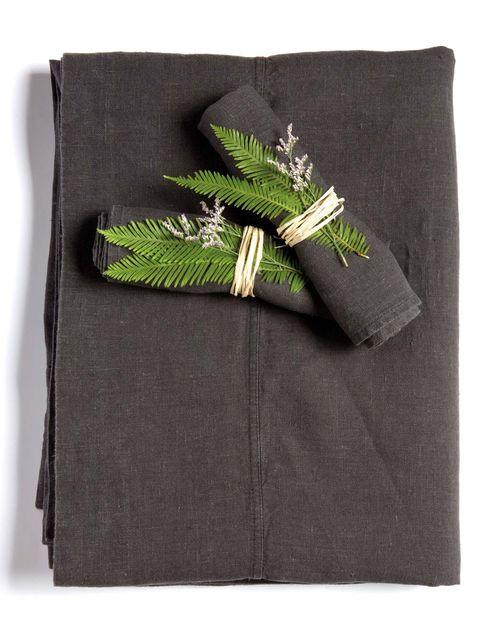 Green, Grey, Linens, Textile, Pocket, Rectangle, Plant, Linen,