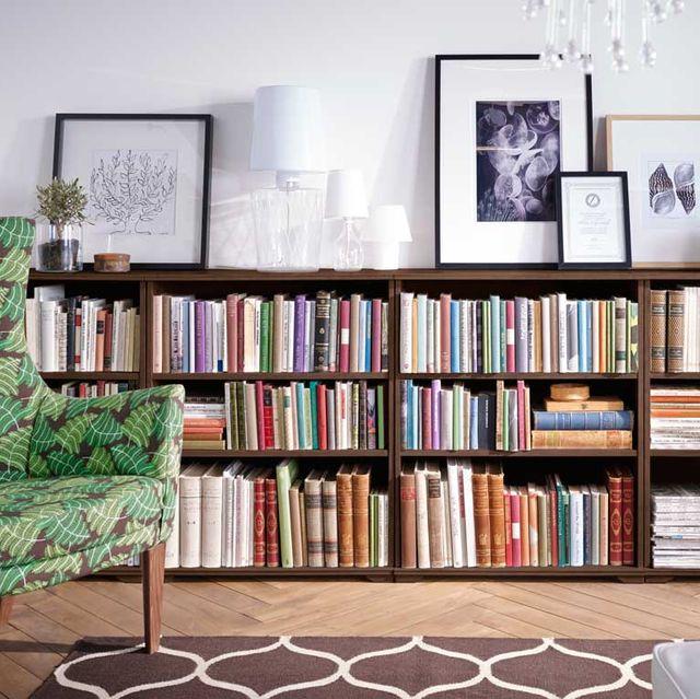 Estanter as para organizar una biblioteca en el sal n orden - Mesas de libro para salon ...