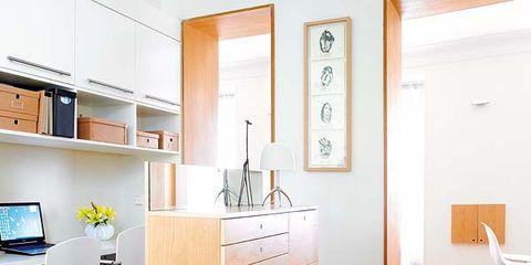 Room, Interior design, Wood, Floor, Carnivore, White, Dog, Wall, Flooring, Cabinetry,
