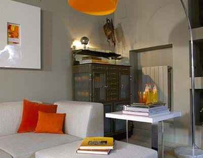 Room, Yellow, Interior design, Orange, Wood, Property, Wall, Table, Furniture, Couch,