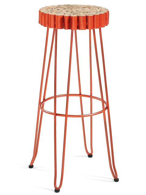 Red, Bar stool, Line, Orange, Maroon, Peach, Parallel, Stool, Tan, Liver,