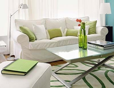 Green, Room, Interior design, Living room, Floor, Property, Home, Furniture, White, Wall,
