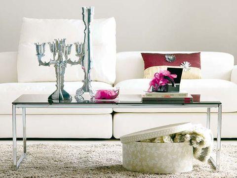 Room, Interior design, Furniture, Living room, White, Wall, Couch, Interior design, Magenta, Rectangle,