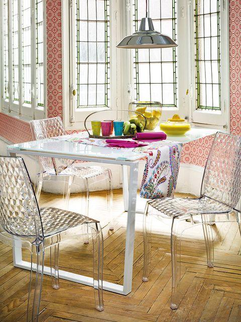 Window, Interior design, Room, Floor, Table, Furniture, Flooring, Fixture, Interior design, Light fixture,
