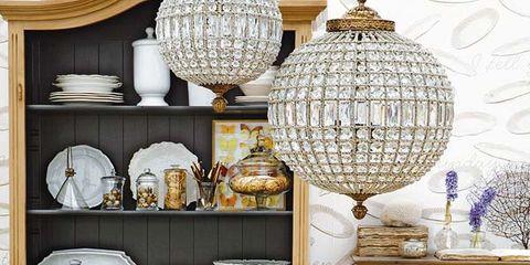 Room, Furniture, Interior design, Cuisine, Interior design, Orange, Light fixture, Chair, Grey, Home accessories,