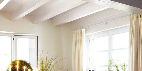 Tablecloth, Yellow, Room, Interior design, Dishware, Textile, Serveware, Furniture, Linens, Interior design,