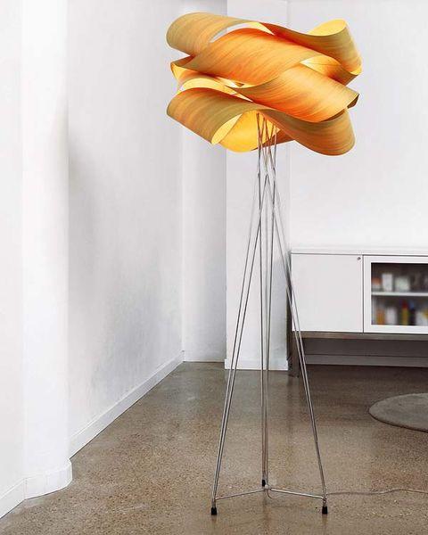 Floor, Room, Flooring, Orange, Shelf, Shelving, Household supply,