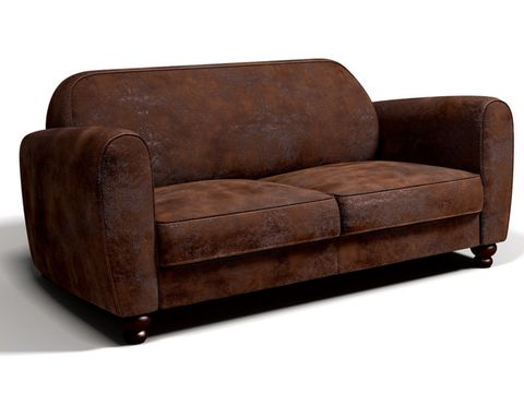 Furniture, Couch, Brown, Leather, Loveseat, Club chair, Sofa bed, Comfort, Outdoor sofa, Chair,