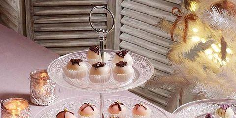 Pink, Food, Tablecloth, Tableware, Table, Cuisine, Dishware, Petit four, Stemware, Interior design,