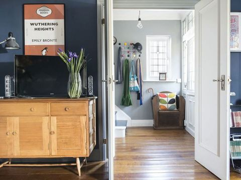 Room, Floor, Wood, Flooring, Interior design, Drawer, Furniture, Cupboard, Cabinetry, Home,