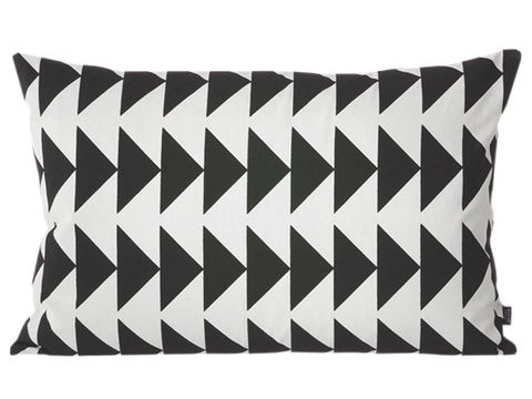 White, Throw pillow, Pillow, Cushion, Pattern, Black, Rectangle, Black-and-white, Linens, Home accessories,