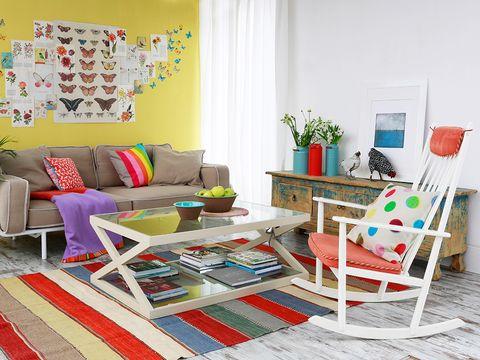 Room, Interior design, Living room, Home, Floor, Furniture, Flooring, Couch, Interior design, Pillow,