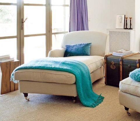 Blue, Wood, Room, Interior design, Floor, Textile, Furniture, Flooring, Wall, Teal,