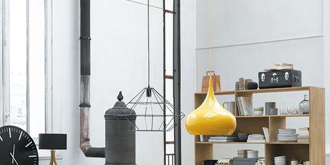Yellow, Table, Floor, Room, Furniture, Interior design, Iron, Design, Plywood, Coffee table,