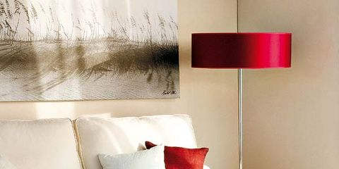 Room, Interior design, Furniture, Wall, White, Red, Living room, Interior design, Home, Couch,
