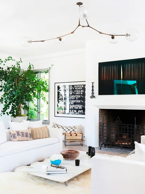 Room, Interior design, Branch, Wall, Living room, Home, Twig, Hearth, Interior design, Teal,