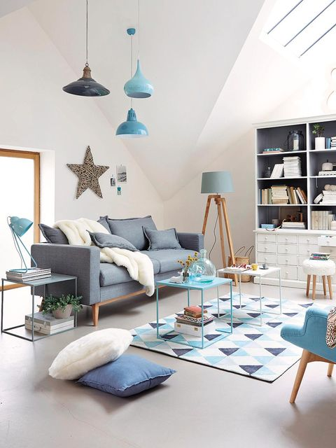 Blue, Room, Interior design, Wood, Wall, Textile, Home, Furniture, Teal, Turquoise,