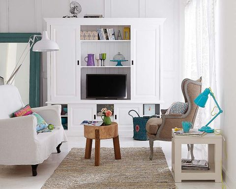 Room, Interior design, Green, Wood, Home, Living room, Wall, White, Furniture, Turquoise,