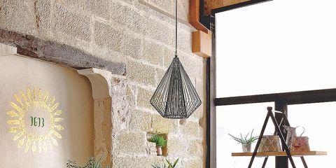 Wood, Room, Interior design, Furniture, Table, Interior design, Lamp, Hardwood, Home, Lampshade,