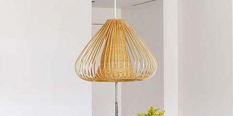 Lampshade, Room, Interior design, Interior design, Lighting accessory, Light fixture, Lamp, Home accessories, Grey, Peach,