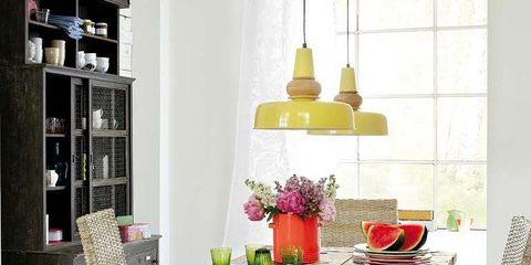 Wood, Room, Interior design, Table, Furniture, Interior design, Dining room, Shelving, Shelf, Light fixture,