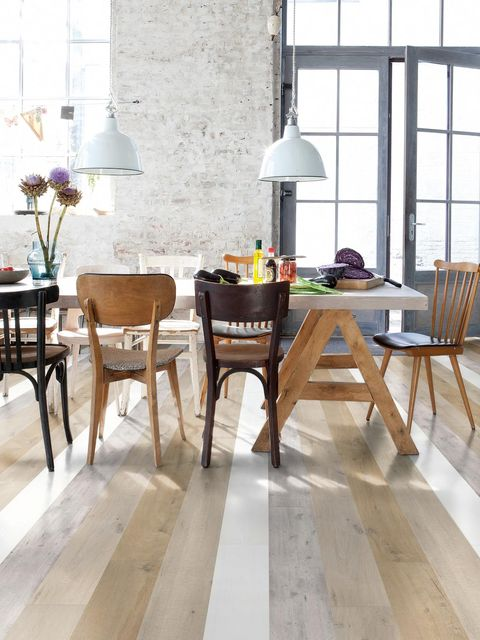 Wood, Floor, Room, Flooring, Furniture, Interior design, Table, Chair, Hardwood, Lampshade,