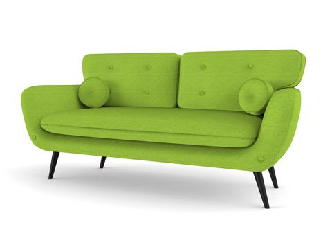Green, Furniture, Couch, Comfort, Outdoor furniture, Black, Rectangle, Outdoor sofa, studio couch, Armrest,
