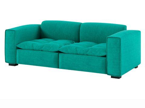 Blue, Green, Couch, Furniture, Turquoise, Teal, Rectangle, Living room, Outdoor furniture, studio couch,