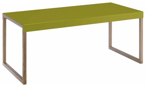 Green, Table, Furniture, Line, Rectangle, Parallel, Material property, Desk, Writing desk, Coffee table,