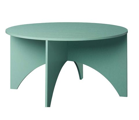 Green, Table, Furniture, Coffee table, Line, Teal, Outdoor table, Outdoor furniture, Turquoise, Aqua,