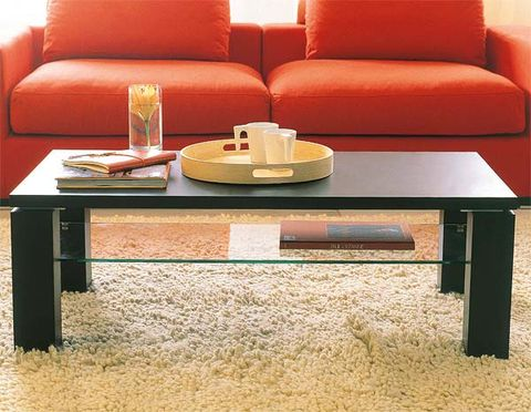 Table, Furniture, Room, Interior design, Couch, Living room, Orange, Coffee table, Rectangle, Outdoor furniture,