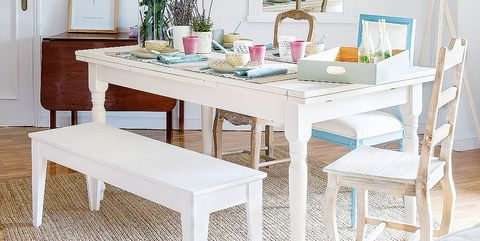 Furniture, White, Dining room, Room, Table, Interior design, Chair, Kitchen & dining room table, Home, Coffee table,