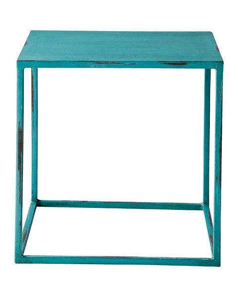Blue, Line, Aqua, Rectangle, Teal, Azure, Turquoise, Parallel, End table,