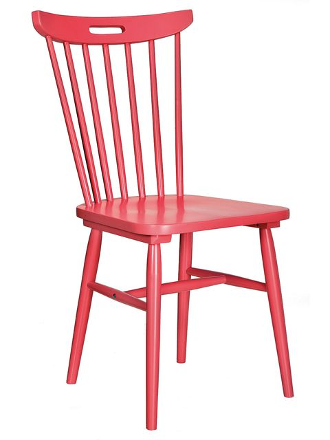 Red, Furniture, Line, Orange, Chair, Maroon, Material property, Peach, Outdoor furniture, Plastic,