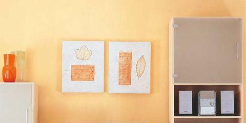 Room, Interior design, Display device, Wall, Television set, Shelving, Orange, Interior design, Home, Peach,