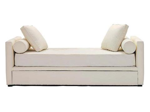 Beige, Rectangle, Futon pad, Cushion, Linens, Couch, Mattress, studio couch, Natural material, Futon,