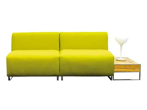 Yellow, Couch, Furniture, Rectangle, Tan, studio couch, Beige, Living room, Outdoor furniture, Design,