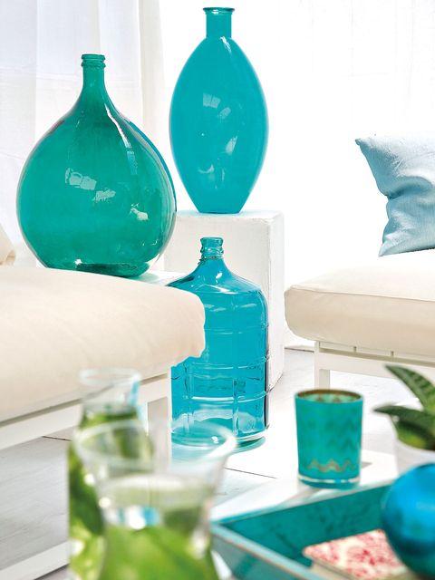 Blue, Green, Teal, Interior design, Turquoise, Aqua, Ceramic, Porcelain, Interior design, Dishware,