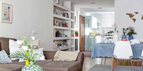 Room, Interior design, Floor, Flooring, Furniture, Interior design, Home, Living room, Carpet, Grey,