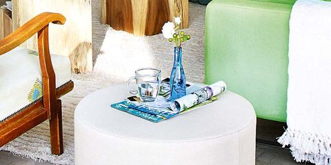 Blue, Aqua, Teal, Turquoise, End table, Gas, Home accessories, Household supply, Cylinder, Linens,