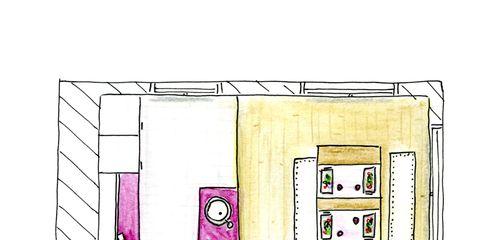 Pink, Line, Purple, Magenta, Rectangle, Parallel, Lavender, Illustration, Artwork, Drawing,