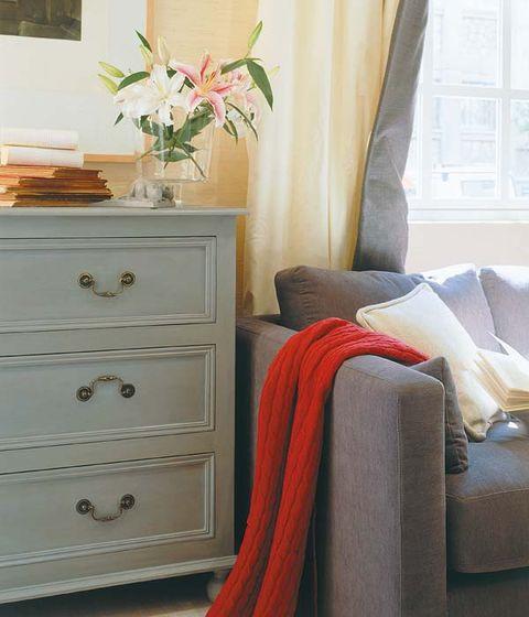 Room, Interior design, Textile, Drawer, Petal, Chest of drawers, Home, Interior design, Cabinetry, Dresser,