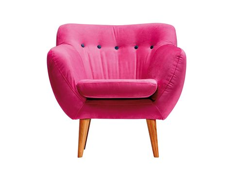 Red, Furniture, Chair, Magenta, Comfort, Tan, Maroon, Material property, Armrest, Club chair,